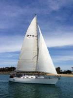 Farr 44 sailboat in San Diego, California, U.S.A