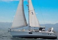 Hunter 410 sailboat in Alameda, California, U.S.A