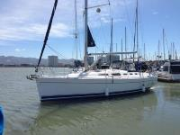Hunter 38 sailboat in Emeryville - San Francsico Bay, California, U.S.A