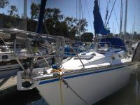 Hunter 34 sailboat in Marina Del Rey, California, U.S.A