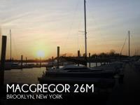MacGregor 26M sailboat in Brooklyn, New York, U.S.A