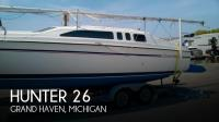 Hunter 26 sailboat in Grand Haven, Michigan, U.S.A