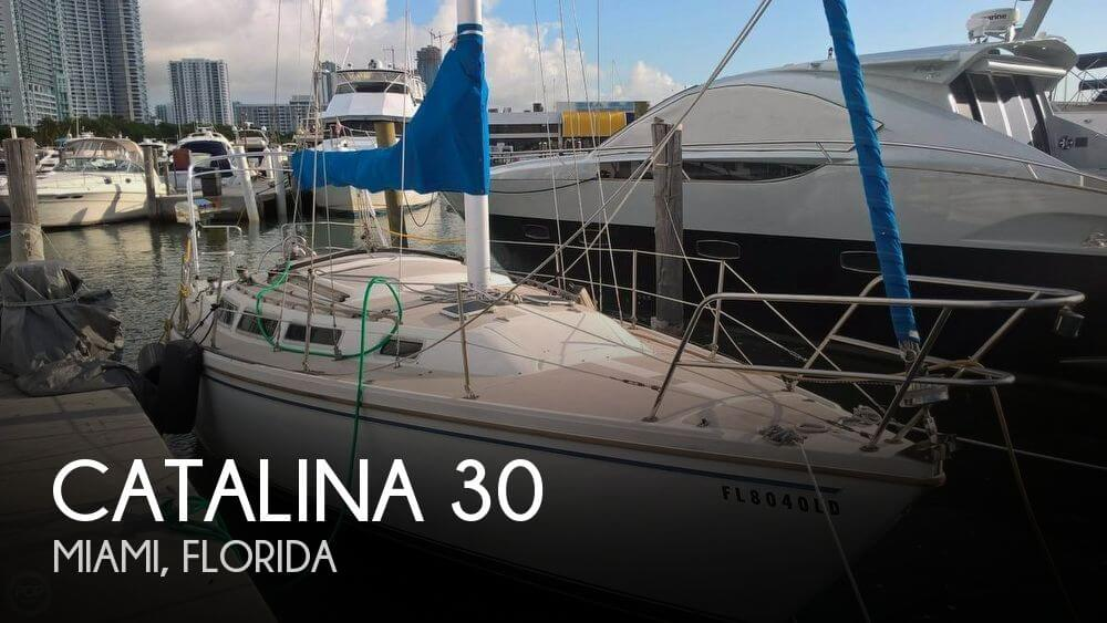 Catalina 30 sailboat in Miami, Florida-USA