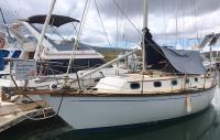 Cape Dory Sloop sailboat in Honolulu, Hawaii-USA
