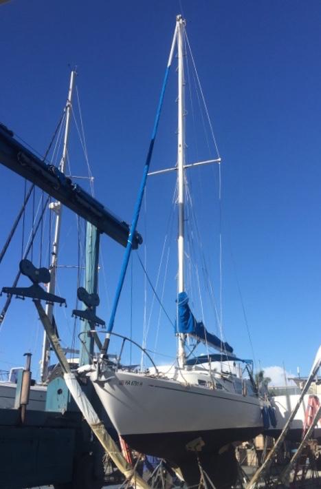 Cal Yachts Sloop sailboat in Honolulu, Hawaii-USA