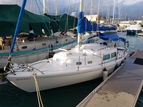 Cal Yachts Sloop sailboat in Honolulu, Hawaii, U.S.A