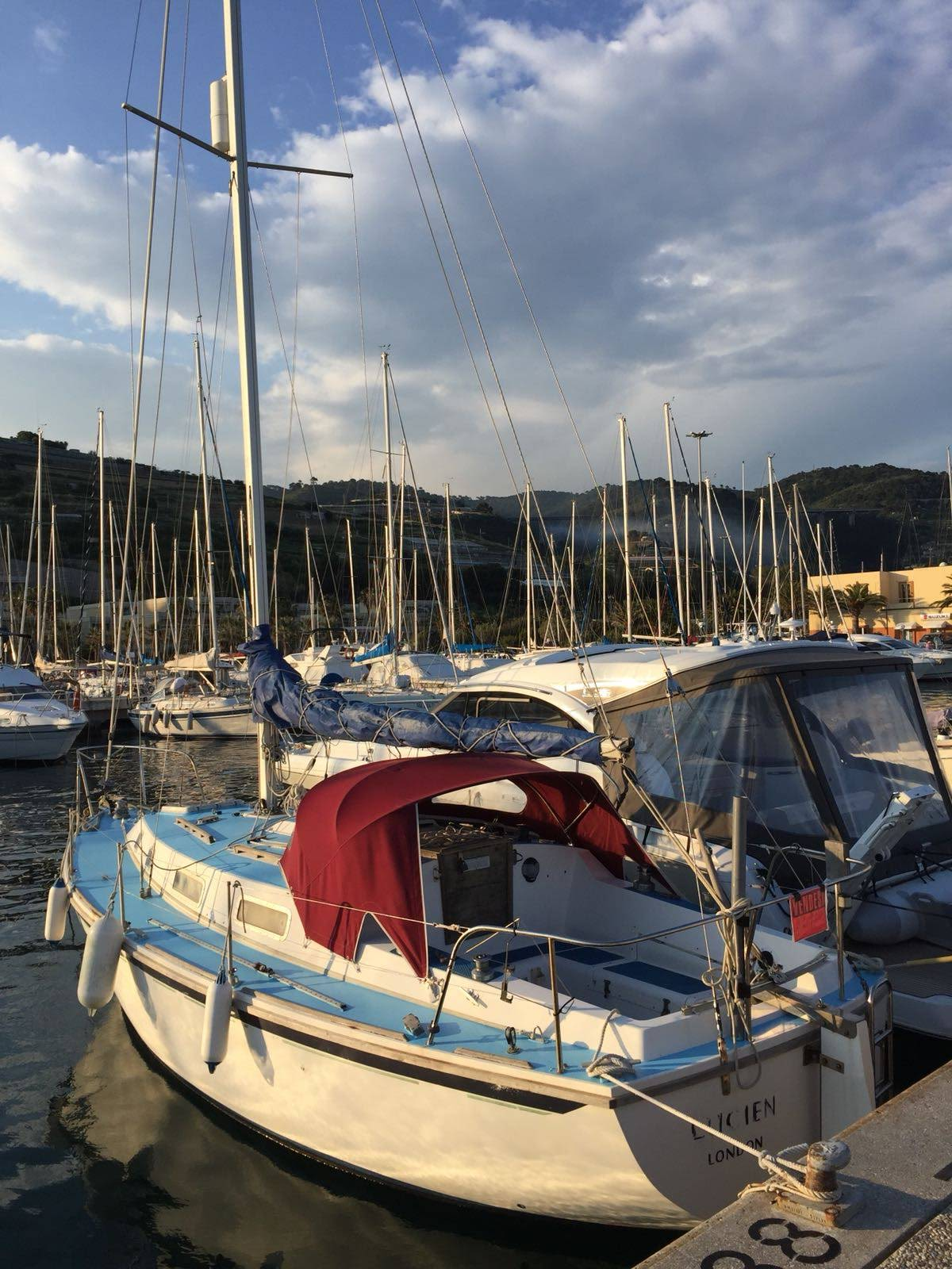Westerly Konsort sailboat in San Remo, Italy