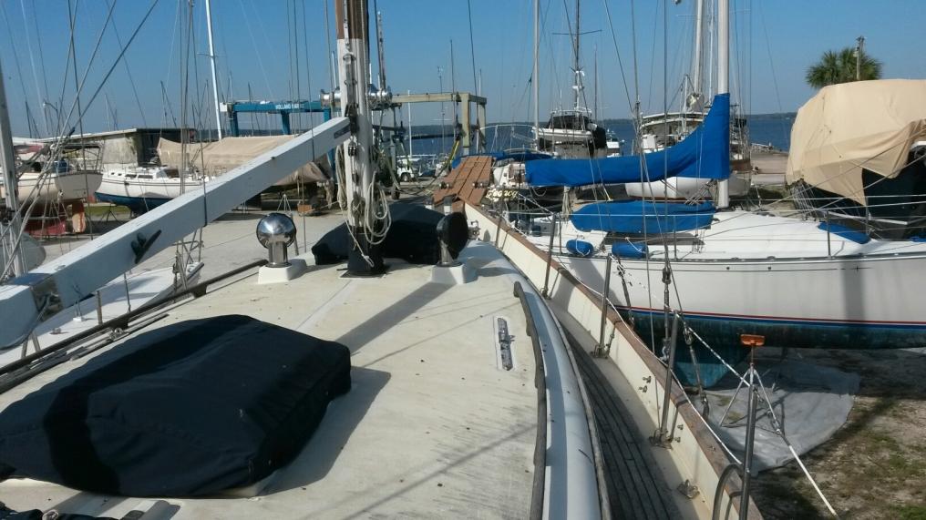 Island Trader 38 sailboat in Green Cove Springs, Florida-USA