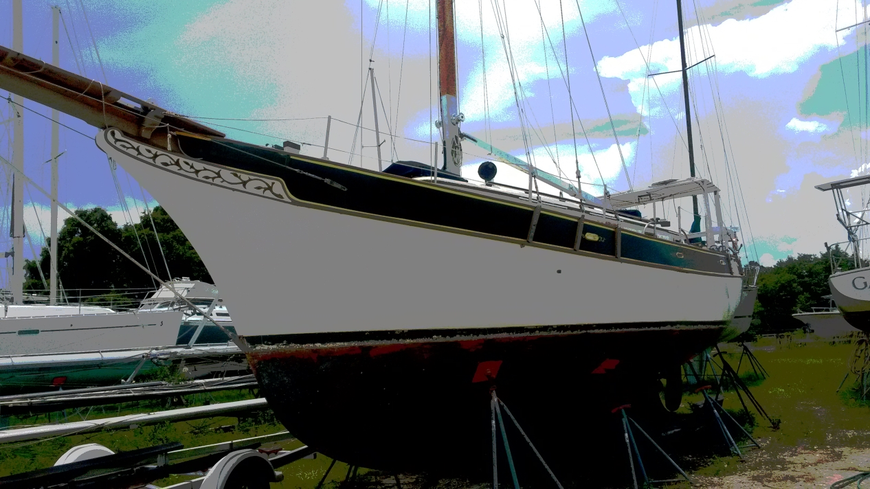 Island Trader 38 sailboat in Green Cove Springs, Florida, U.S.A